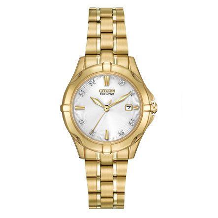 Stílus és női óra. A Citizen Ladies Diamond kvarcóra hétköznapi és elegáns, rendkívül sokoldalú stílust adva.