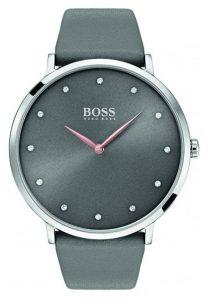 Női órák - Hugo Boss női Jillian karóra szürke bőr