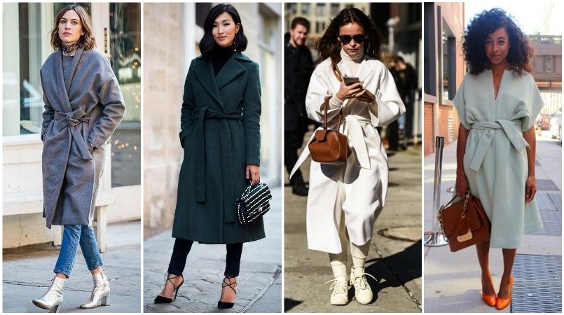 Női télikabát és övvel és meleg női télikabátok