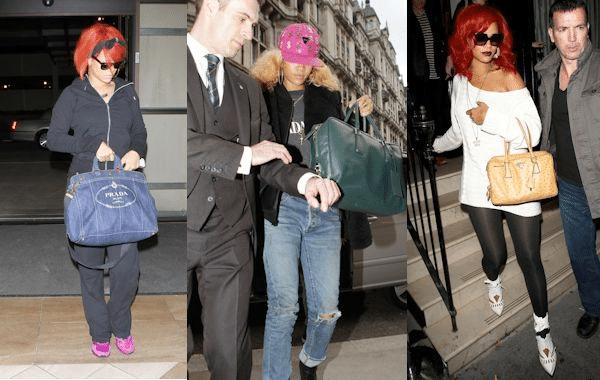 Rihanna: És Prada női táska szett dicsősége