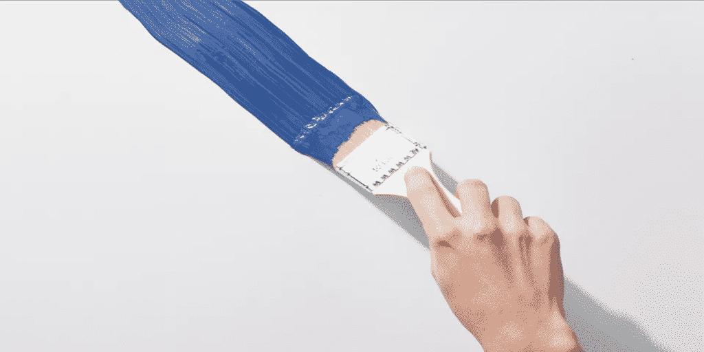 Festőecset technika falak festésére