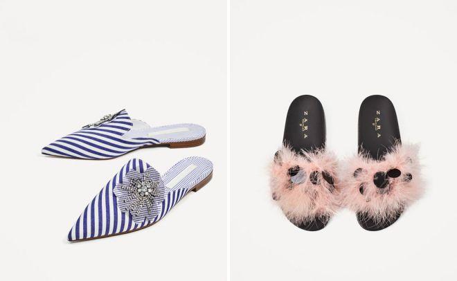 Női papucsok. Az 2017 divatos papucs
