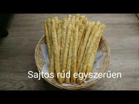Sajtos rúd egyszerűen videó recept