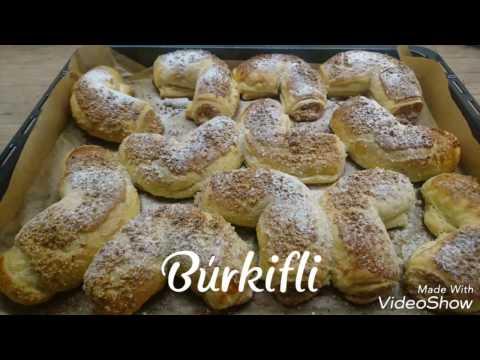 Búrkifli recept házilag leveles tésztából videó