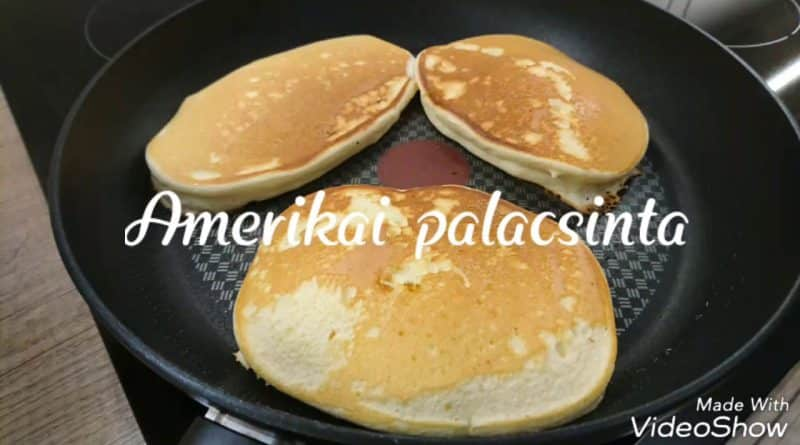 Amerikai palacsinta sütése videó recept