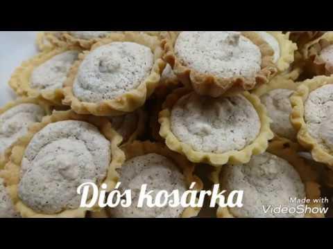 diós kosárka recept, diós kosárka muffin formában, diós kosárka lépésről lépésre, diós kosárka forma, diós kosárka készítése, diós kosár, diós kosárkák recept