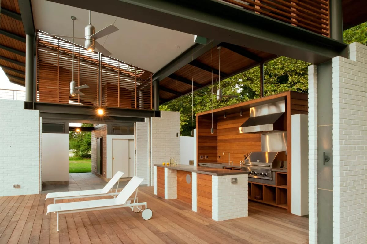 Álom luxuskivitelben - Egy nyári ház szabadtéri konyha kialakítása
