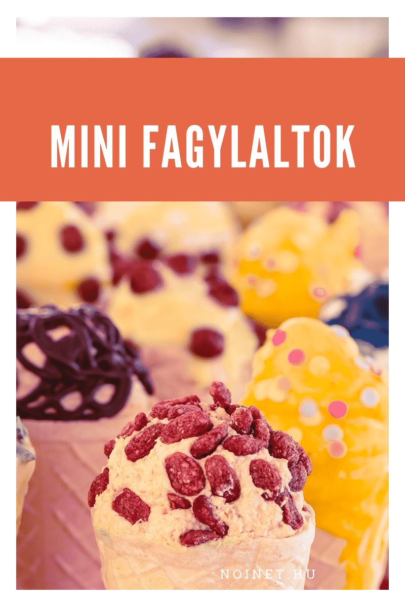 Esküvői menü - Mini fagylaltok