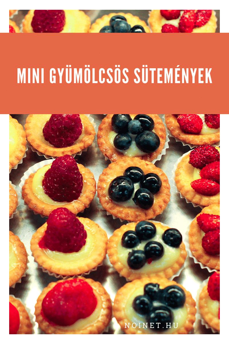 Esküvői menü - Mini gyümölcsös sütemények