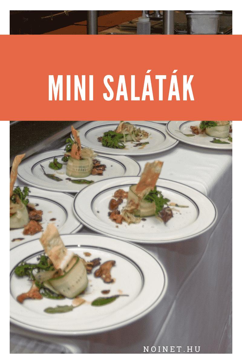 Esküvői menü - Mini saláták