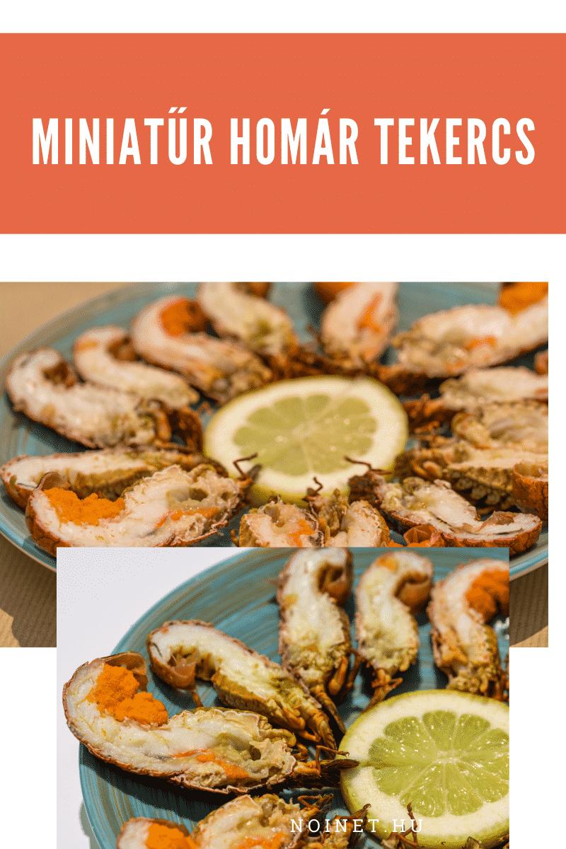 Esküvői menü - Miniatűr homár tekercs