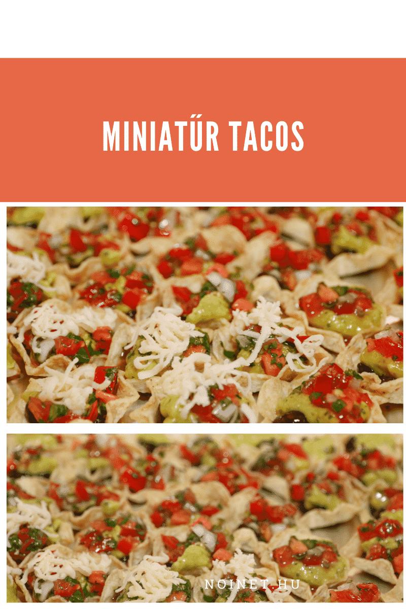 Esküvői menü - Mini tacos