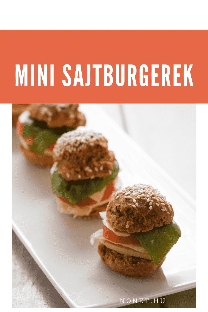 Esküvő menük - Miniatűr sajtburgerek
